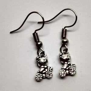 Jewelry - 5/$20 kitten cat riding a bike earrings hair bow